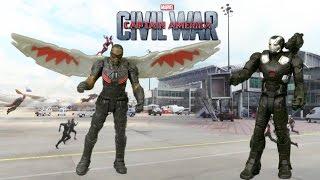 Marvel Captain America Civil War Miniverse Marvel's Falcon vs. Marvel's War Machine from Hasbro