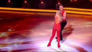 Jennifer Ellison cuts head open with skate on Dancing On Ice - 12th February 2012