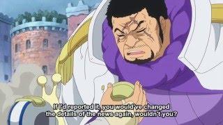 [ONE PIECE]. Akainu talking to Fujitora .Episode 736 ENG