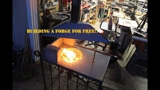 building a charcoal forge from scrap metal