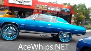 AceWhips.NET- K-Stunna Candy Teal Chevy Donk on 30