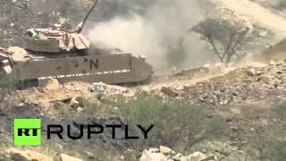 RAW: Saudi tanks under Houthi fire on Yemeni border