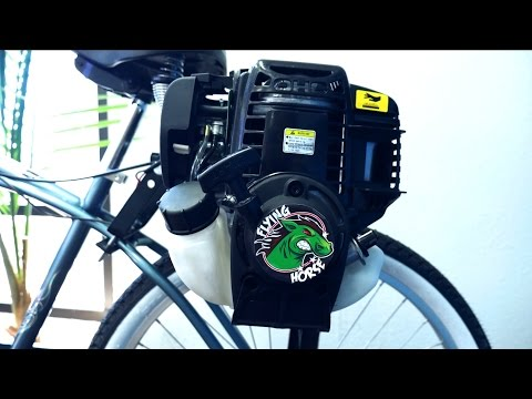 4 Stroke 38cc Friction Drive Motor Bicycle Engine Kit Installation The Flying Horse Lock n Load