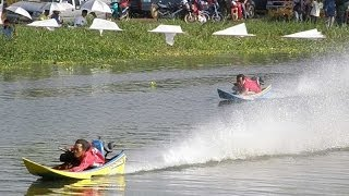 Power Boat Hydroplane Racing Longtails in Thailand