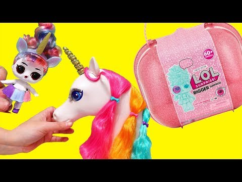 Unicorn LOL Bigger Surprise Toys and Dolls Pretend Play for Kids SWTAD