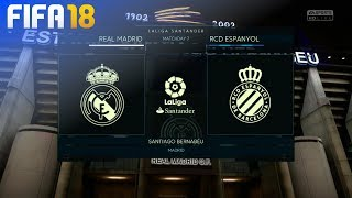 FIFA 18 - Real Madrid vs. RCD Espanyol @ Estadio Santiago Bernabéu