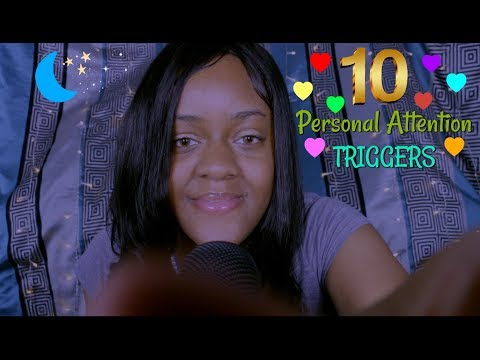 ASMR | 10 Personal Attention Triggers | (Scalp Massage, Plucking Your Eyebrows, Face Massage) ~