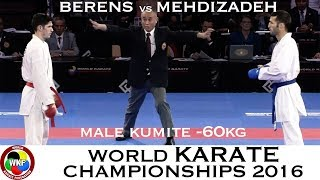 FINAL. Male Kumite -60kg. MEHDIZADEH (IRI) vs BERENS (NED). 2016 World Karate Championships