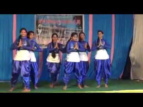 8th and 9th girls dance N.E.S honavar