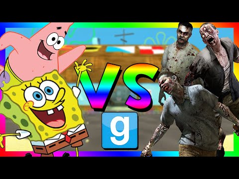 SPONGEBOB VS ZOMBIES Gmod Sandbox Funny Moments