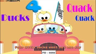 Five Little Ducks Lyric Video ♫ Learn English with Songs for Children ♫ Nursery Rhyme Kids Songs