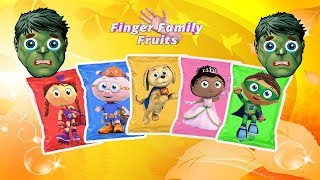 Hulk Wrong Chips Super Why! Learn Colors For Kids - Finger Family