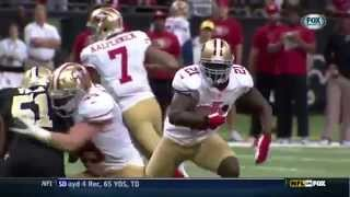 Frank Gore's dick and balls bounce all over the place