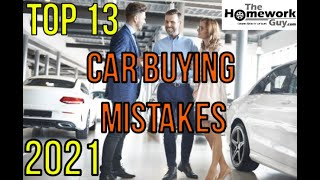 13 Car Buying Mistakes - How Auto Dealerships rip you off - Advice by Kevin Hunter (TBFS Radio)