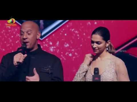 Vin Diesel Kiss Deepika Padukone Infront Of  Media ||  XXX