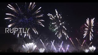 Russia: Moscow horizon ablaze with colour for Rostec Int Firework Festival