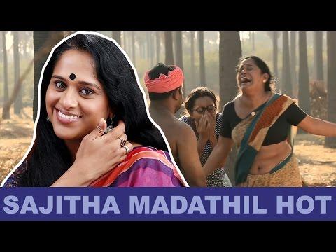 Sajitha Madathil Hot Deep Wide Navel in Saree