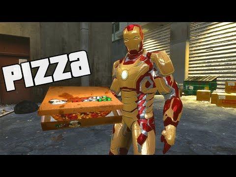 Homem de Ferro Entregador de Pizza