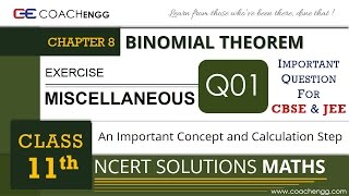 BINOMIAL THEOREM - Exercise Miscellaneous Q1 - Class 11 MATHS NCERT Solution