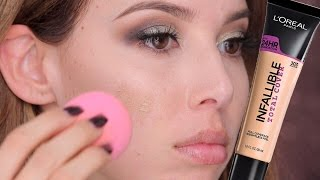 Download L'Oreal Infallible Total Cover: FIRST IMPRESSION, SWATCHES, APPLICATION   LUSTRELUX 3Gp Mp4