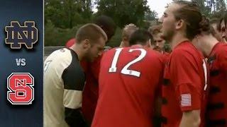 Notre Dame vs. NC State Men's Soccer Highlights (2015)