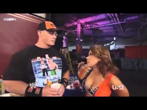 Mickie James & John Cena Backstage