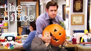 Dwight Gets His Head Stuck in a Pumpkin - The Office