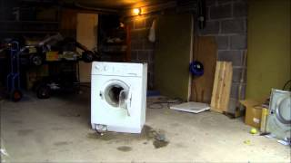 Hysterical Destruction of Washing Machine Funny