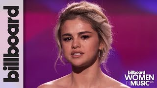Selena Gomez Tearfully Accepts Woman of the Year Award at Billboard