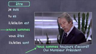 French Verb Practice with Movie Clips
