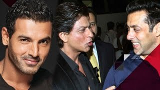 OMG! John Abraham Makes FUN Of Shah Rukh Khan & Salman Khan   Bollywood Stars' Funny Side