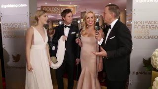 Eddie Redmayne & Saoirse Ronan HFPA Red Carpet Interview