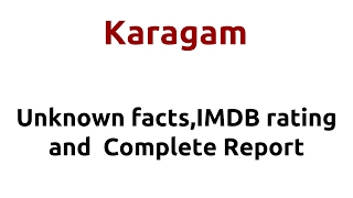 Karagam  2009 movie  IMDB Rating  Review   Complete report   Story   Cast