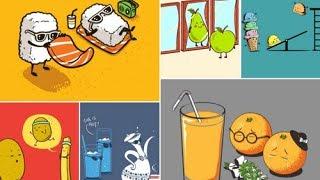 Yiyecek ve İçeçekleri Canlandıran Eğlenceli İllüstrasyonlar