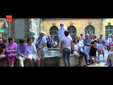 Don Giovanni and Le Nozze di Figaro. Festival Aix en Provence. FlashMob 2012. Place de la Mairie.