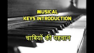Musical keys introduction # हारमोनियम अथवा कीबोर्ड में चाबियों की पहचान # Piano hindi tut