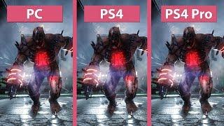 killing floor 2  ps4 pro vs ps4 vs pc 1080p mode graphics comparison