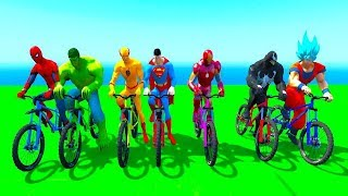 Learn Color With Bike | 3D Animation  Rhymes | Nursery Rhymes For Children In English