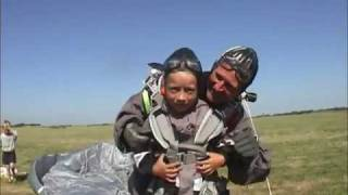 The Skydiving Kid - 7 years old