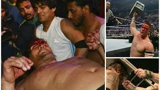 John Cena vs Umaga vs The Great Khali - WWE most brutal match ever | Bloodiest match ever in WWE