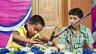 11 Eight years old kid Krushna Sawarkar Playing Tabla TeenTal accompanied by Satish Sawarkar