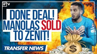 DONE DEAL : KOSTAS MANOLAS OFFICIALLY LEAVES AS ROMA TO JOIN ZENIT | Serie A Transfer News