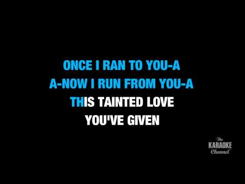 """Tainted Love in the Style of """"Marilyn Manson""""  karaoke video with lyrics (no lead vocal)"""