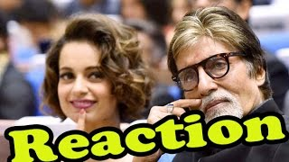 SHOCKING: Amitabh Bachchan Reaction On Kangana Ranaut - Hrithik Roshan Controversy