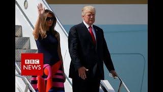 G20  SUMMIT: President Trump arrives in Germany- BBC News