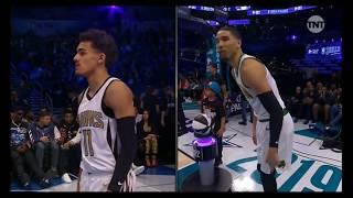 Jayson Tatum vs Trae Young - HALF-COURT SHOT FOR THE WIN - NBA ALL STAR 2019