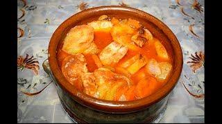 طاجن البطاطس بالجزر والفراخ مطبخ ساسى