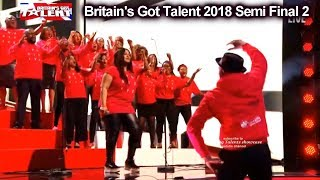 B-Positive Choir sings This Is Me Britain's Got Talent 2018 Semi Final Group 2 BGT S12E09