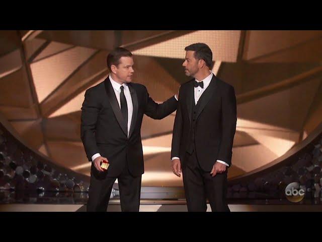 Matt Damon Confronts Jimmy Kimmel After Emmys Loss