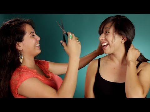 Xxx Mp4 Women BFFs Cut Each Other's Hair Part 2 3gp Sex